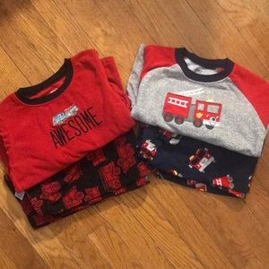 Firefighter themed 2 piece PJs, Set Of 2, Boys 5